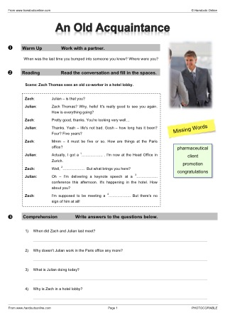 Intermediate Level ESL EFL Worksheets, activities and lesson plans